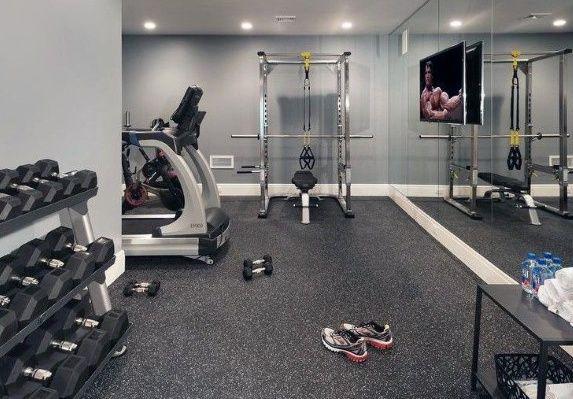 Fitness Room Flooring Designs