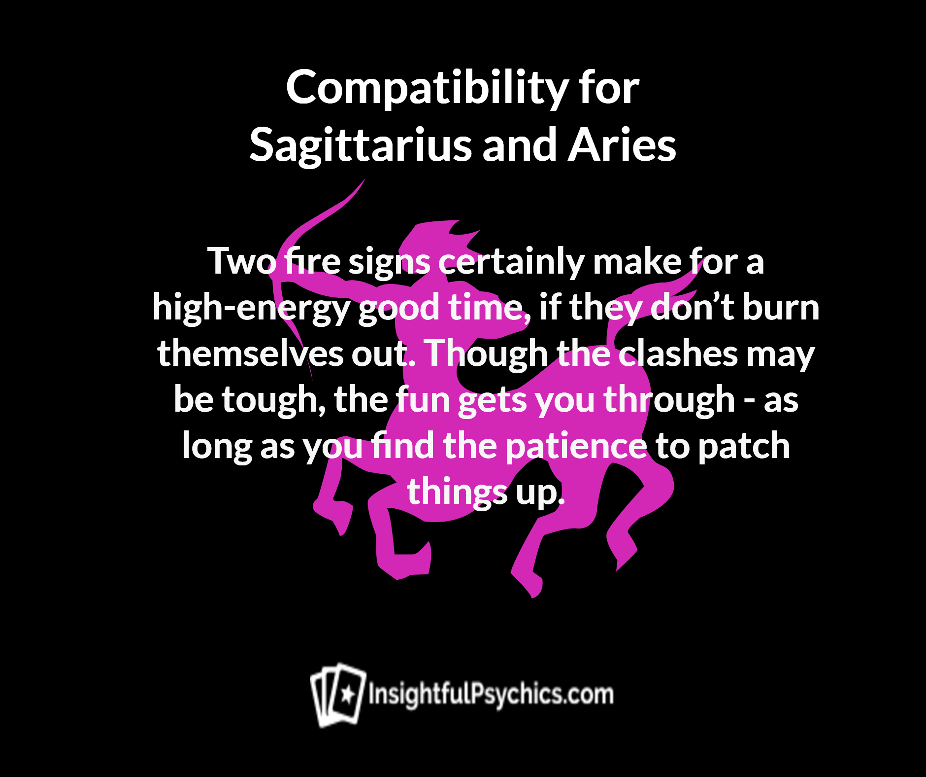 Sagittarius and Aries Compatibility - Fire + Fire