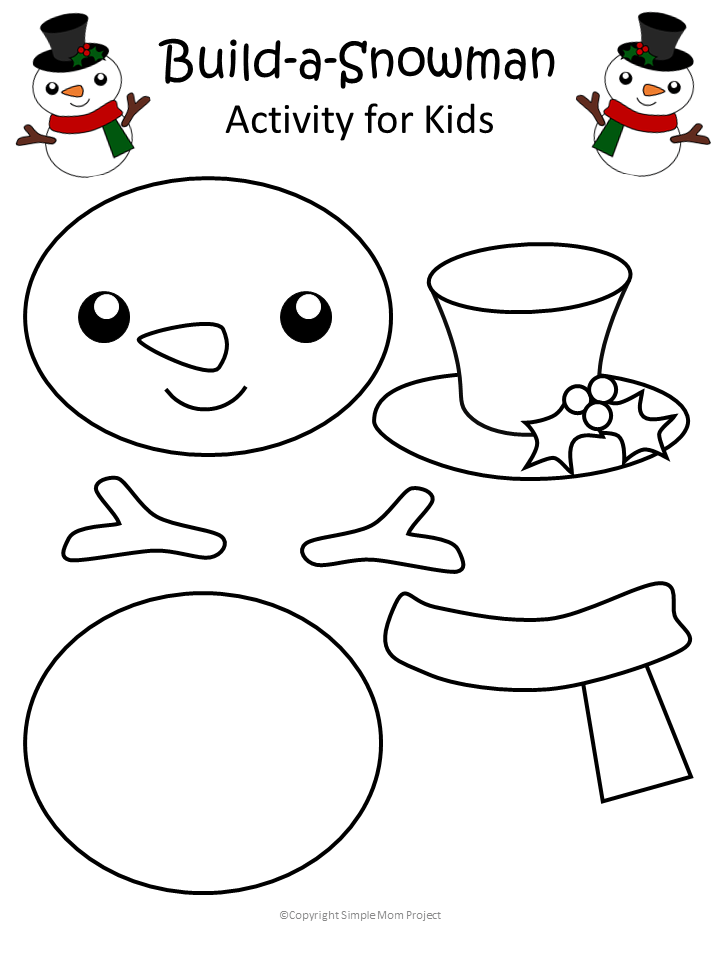 Printable Christmas Snowman Craft with FREE Template - Simple Mom Project