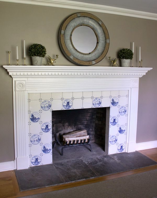 Fireplace Tile Surround, Delft Fireplace Tiles