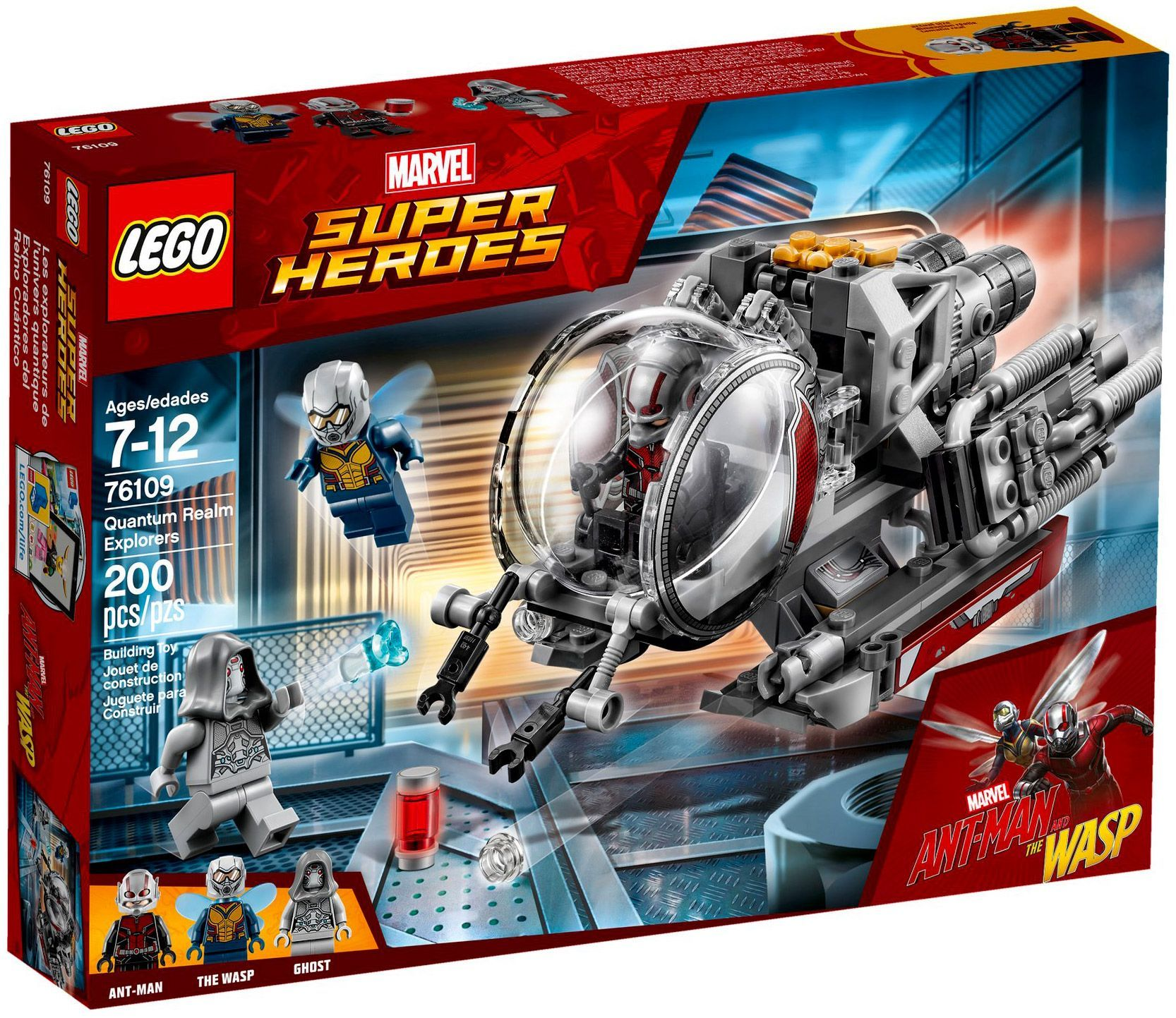 A Marvel La De Heroes Realmant 76109 Super Lego Découverte Quantum 6Y7gybf