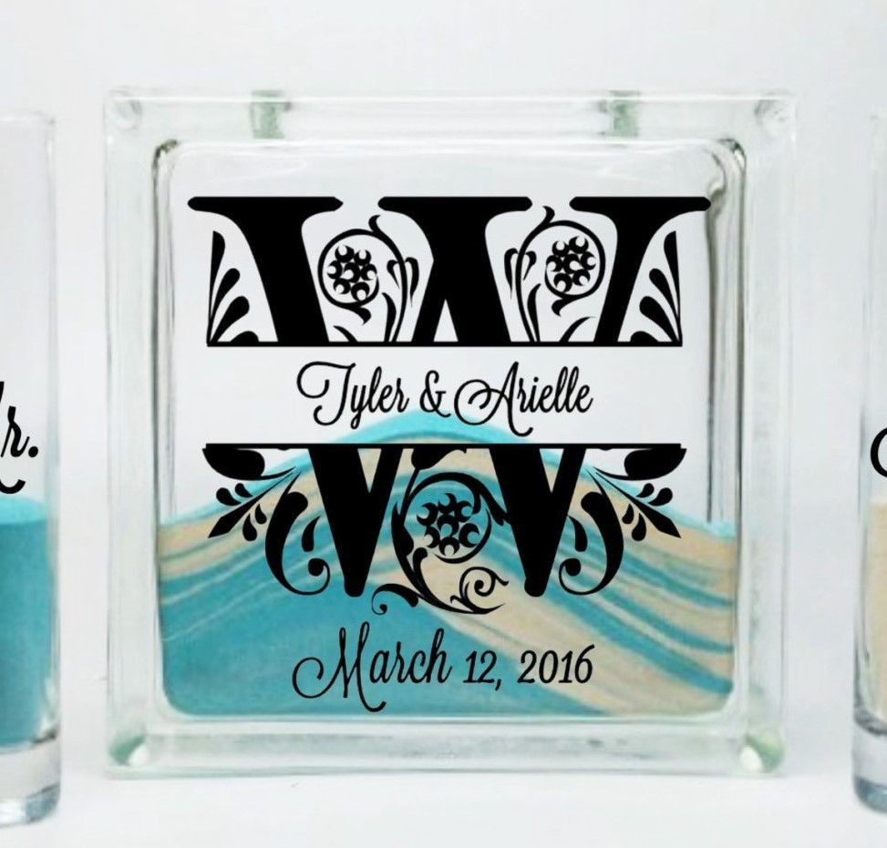 Display the first letter of your married last name with this display the first letter of your married last name with this classy unity sand ceremony set reviewsmspy
