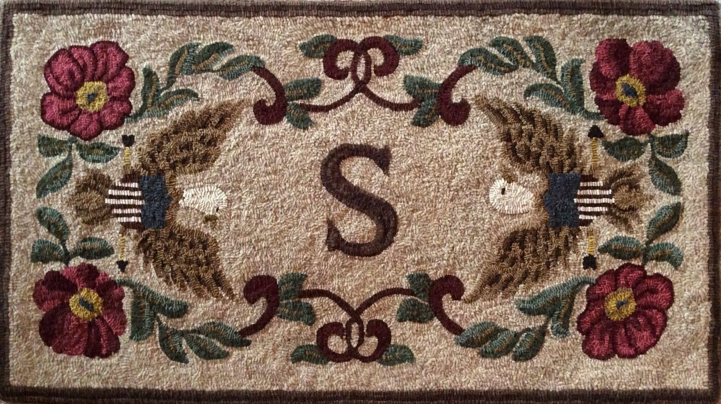 1321 Centennial Legacy Rug hooking patterns, Hooked