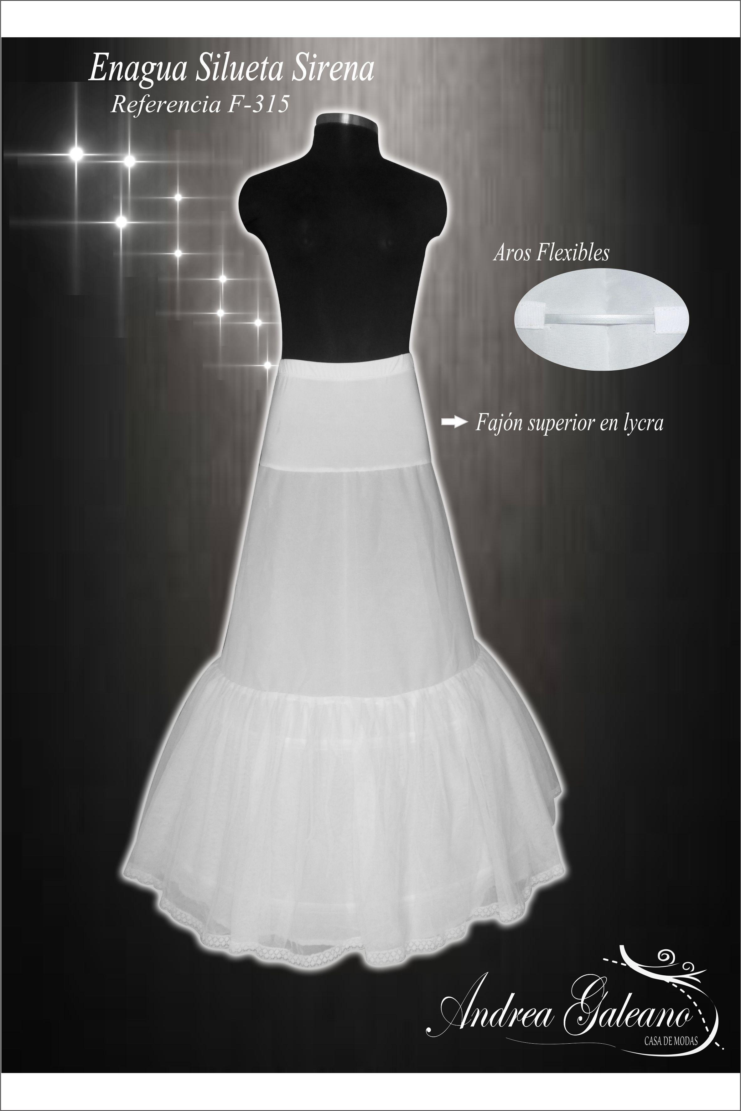 Enagua para vestidos de Novia corte sirena | Enaguas para Vestidos ...