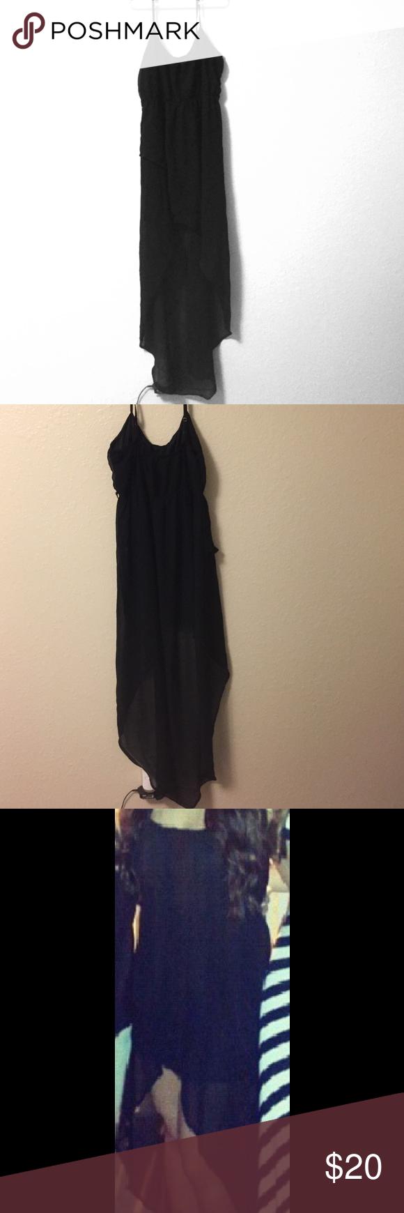 High low dress All black high low dress Dresses High Low