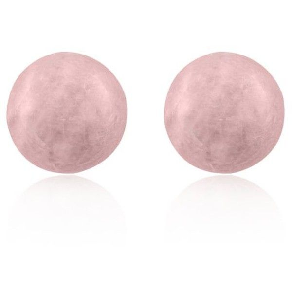 Effy  Morganite Ball Studs In 14K Yellow Gold ($245) ❤ liked on Polyvore featuring jewelry, earrings, morganite, 14k gold earrings, gold jewellery, gold ball earrings, gold jewelry and 14k yellow gold earrings
