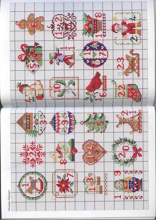 Calendario Dellavvento Punto Croce.Calendario Dell Avvento Punto Croce Natale Ricamo A