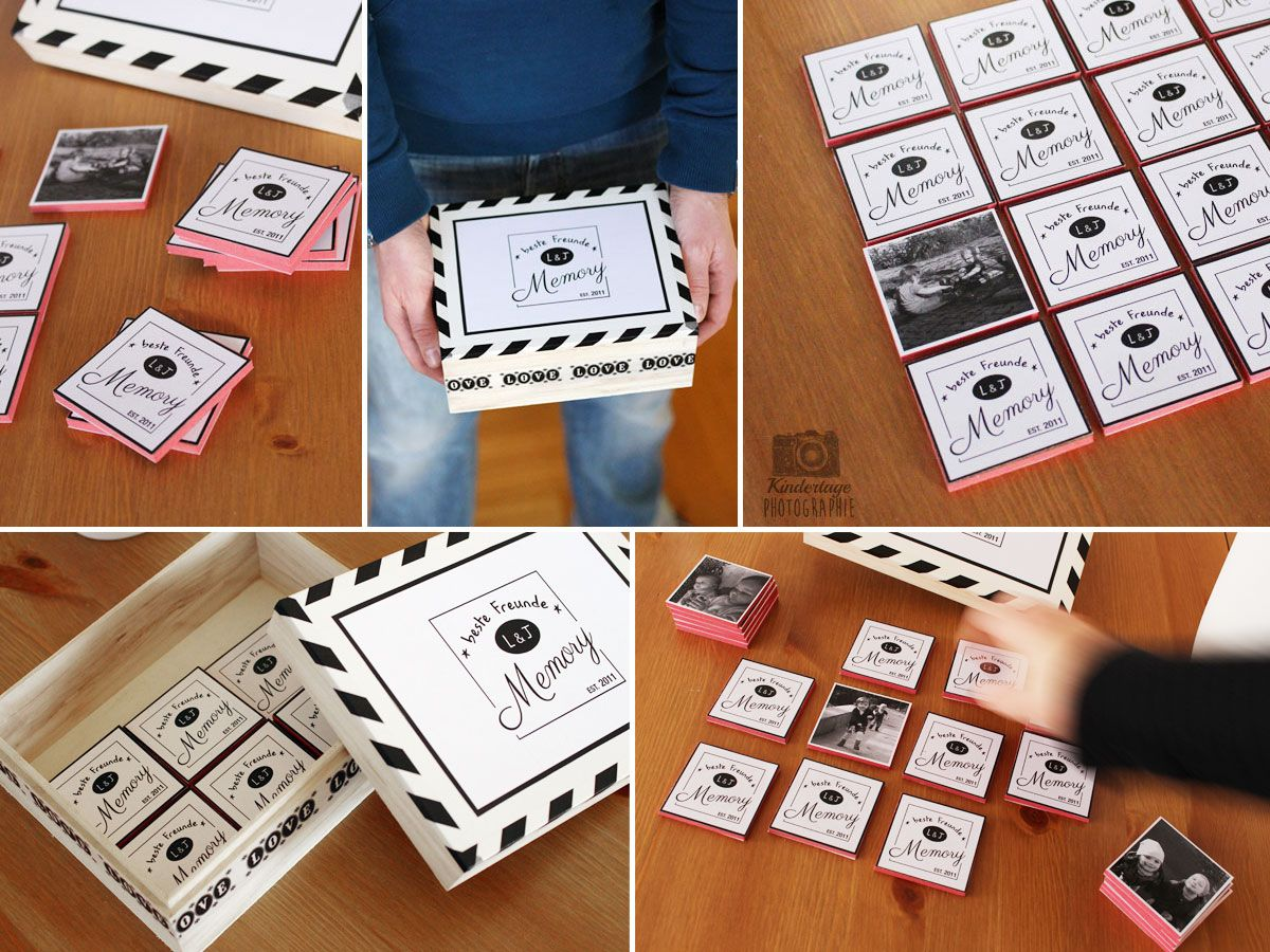 gastpost diy anleitung f r ein beste freunde foto memory memory pinterest. Black Bedroom Furniture Sets. Home Design Ideas