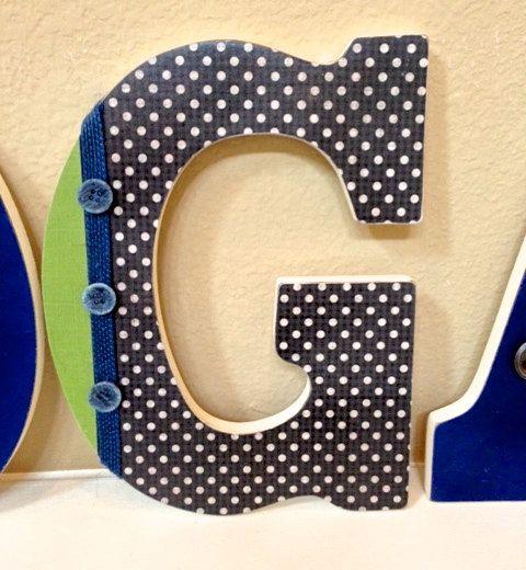 Custom Letters Name for Boy, Baby Boy Nursery Room Decor ...