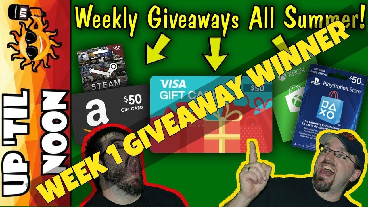 Gift card giveaway all summer long amazon psn xbox