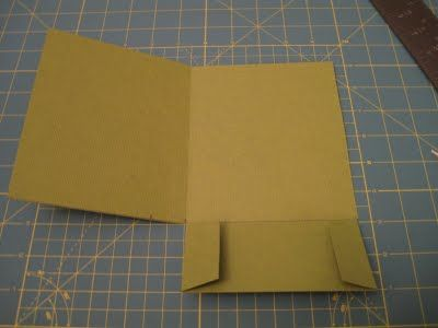 DIY invitation pocketfolds - use purple colored paper for this