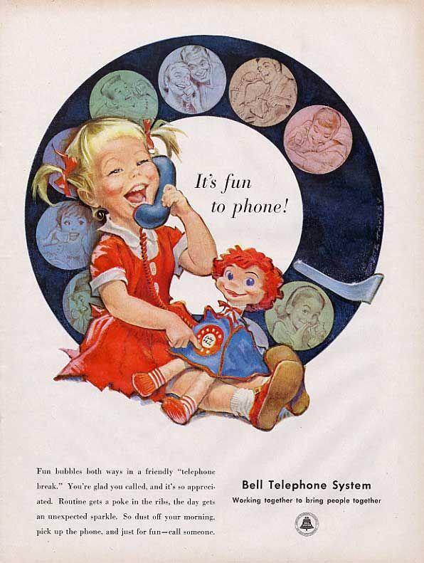 On hauskaa olla puhelimessa Bell Telephone System