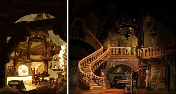 Http Www Pushing Pixels Org Wp Content Uploads 2011 01 Tangled Artwork4 Jpg Tangled Concept Art Disney Art Fairytale House