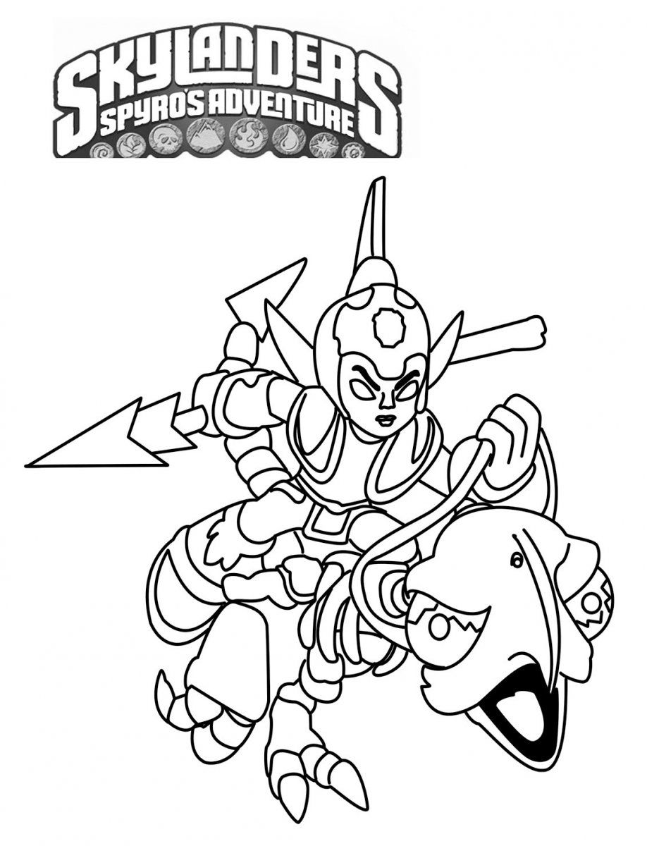 Coloring Page :: Fright Rider | {parties. kids.} Skylanders. by ...
