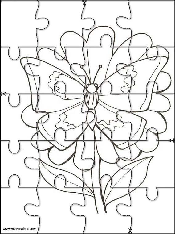 Printable jigsaw puzzles to cut out for kids Animals 115