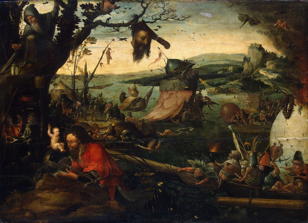 Jan Mandijn, Landscape with the Legend of St. Christopher first half of the 16th century