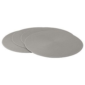 Set Of 4 Eva Round Placemats Taupe 6 Need New Placemats Placemats Pretty Decor Taupe