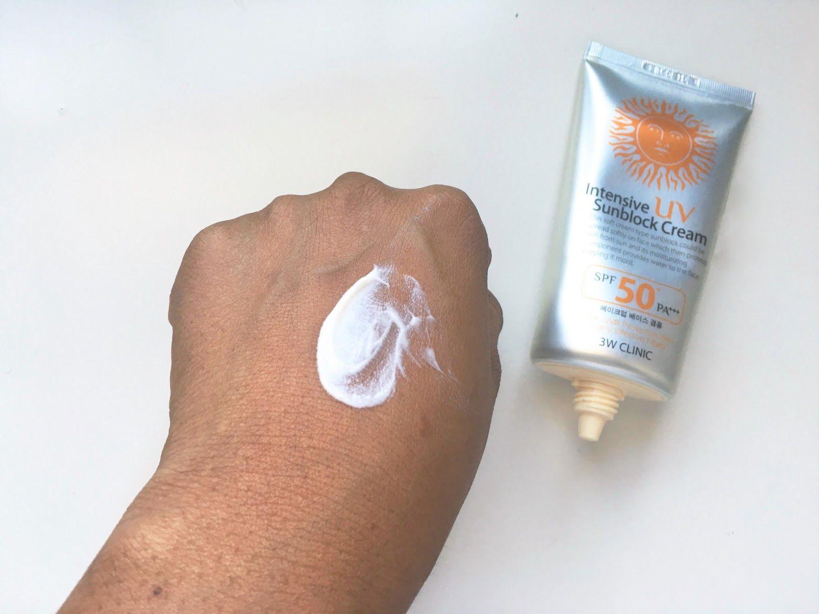 3w Clinic Intensive Uv Sunblock Cream Spf 50 Pa Review Sunblock Love Your Skin Intense