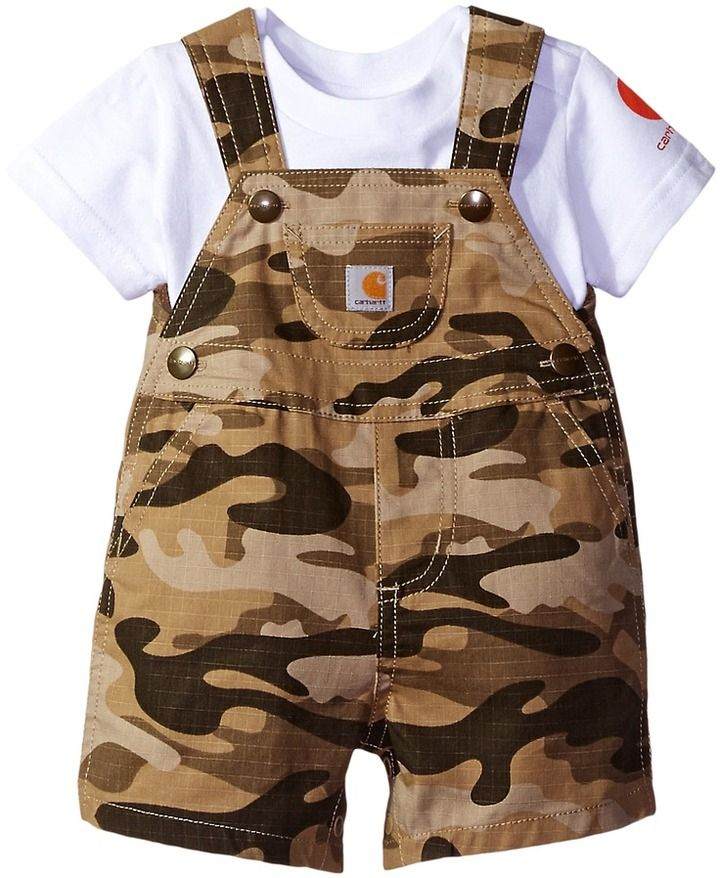 6467285624e1 Carhartt Kids - Two-Piece Shortall Set Boy s Overalls One Piece ...