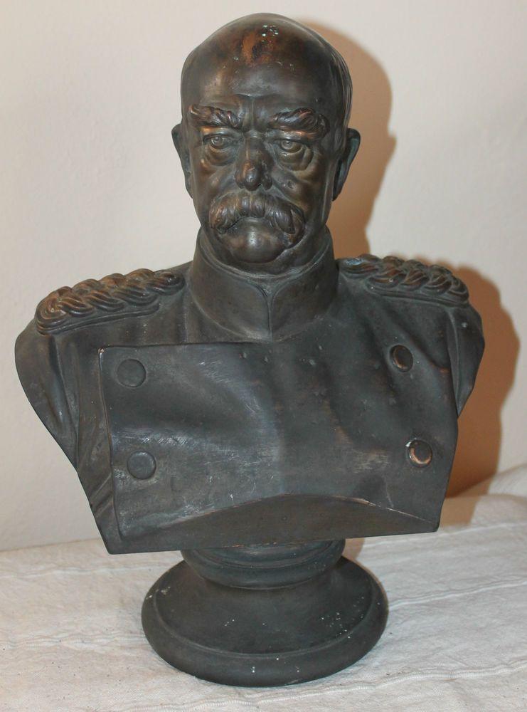 alte Büste *Otto von Bismarck *A. Donndorf* Bronze | PREUSSEN ...