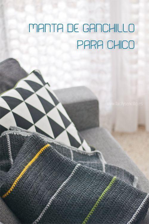 Manta de Ganchillo para Chico | soon | Pinterest | Mantas de ...