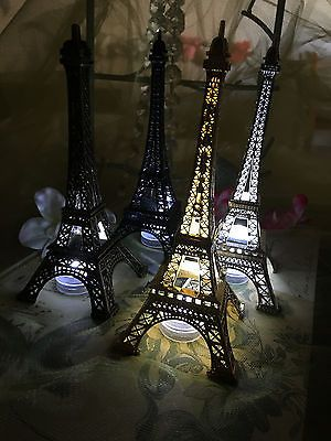 Details about Eiffel Tower Paris Metal Stand Model Table Decor w/Extra LED waterproof Light #eiffeltower
