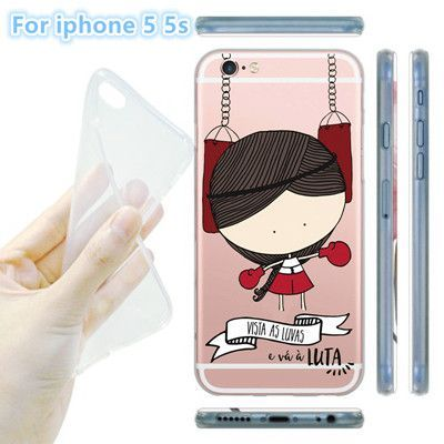 Lovely Noble Princess Girl Phone Case Cover For iphone 5 5s / 6 6s