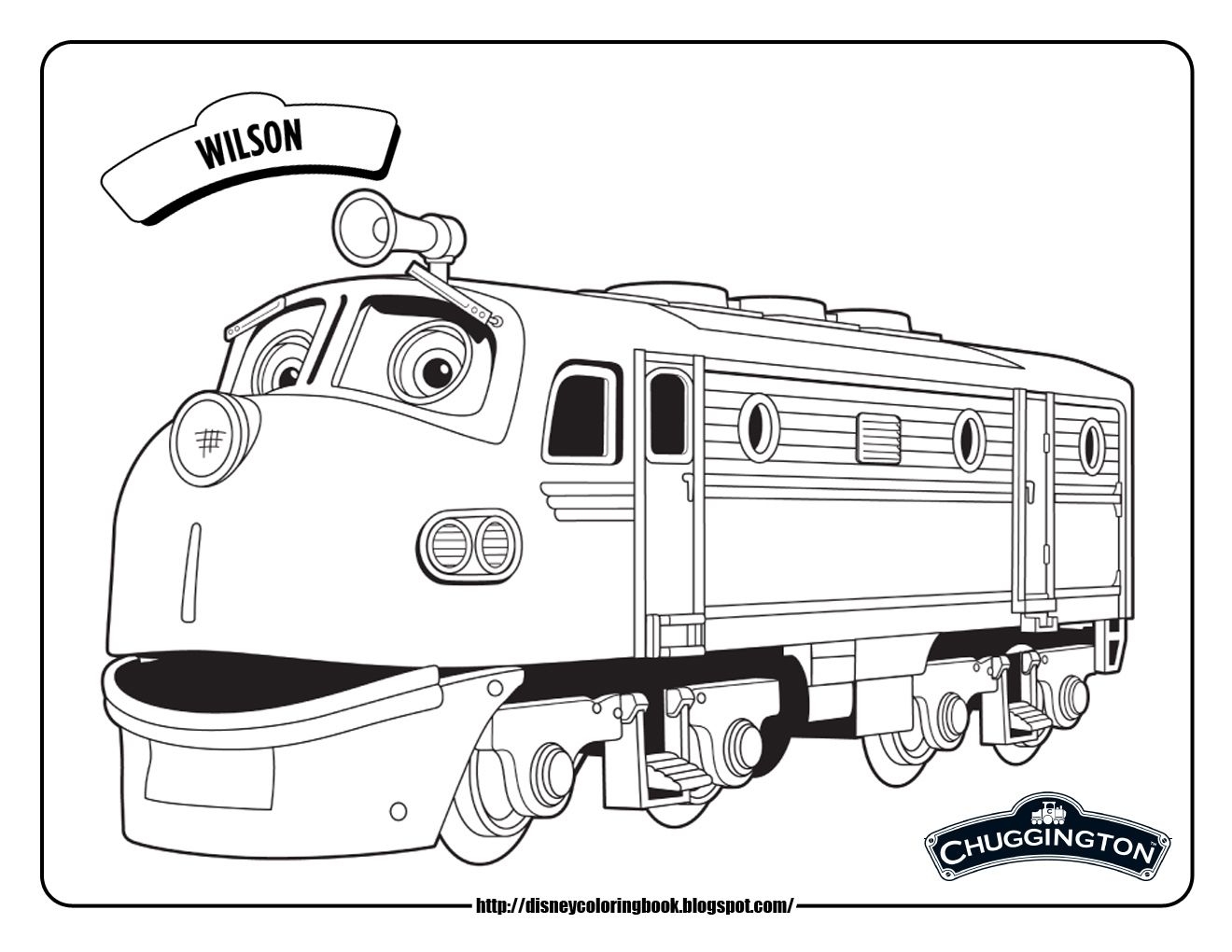 chuggington coloring pages | chuggington wilson train coloring ... - Disney Jr Coloring Pages Print