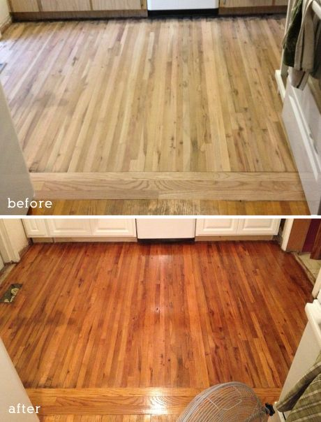 Refinishing Orginial Wood Floors Covered With Linoleum Is