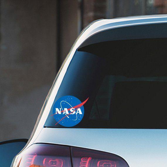 Nasa Logo Coloured Car Bumper Color Vinyl Sticker Ns Stickers