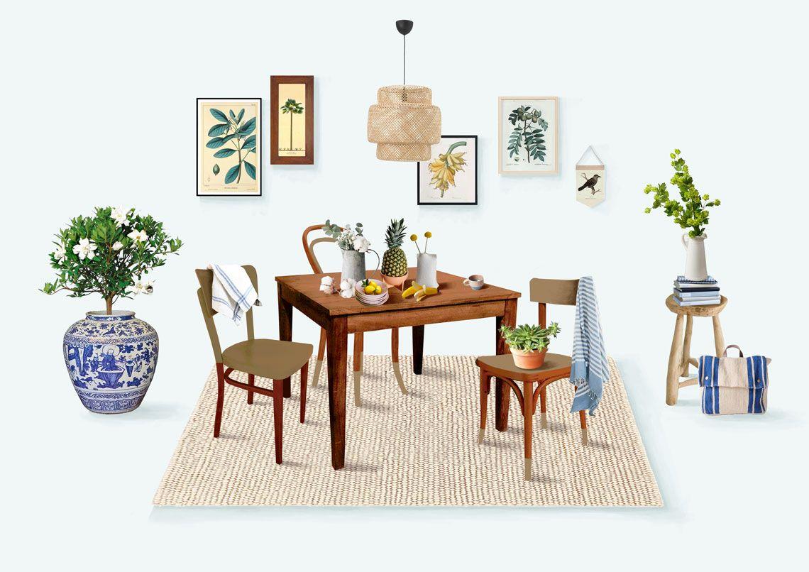 Casacollage collage de una cocina de estilo tnico y for Muebles estilo etnico