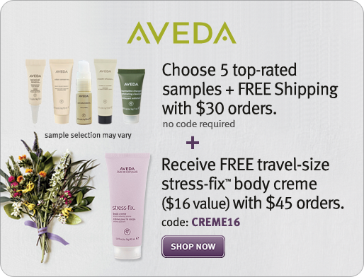 Get a FREE GIFT on your Birthday - Every Year!!! Aveda - Official Site - Current Site Offers and Promotions