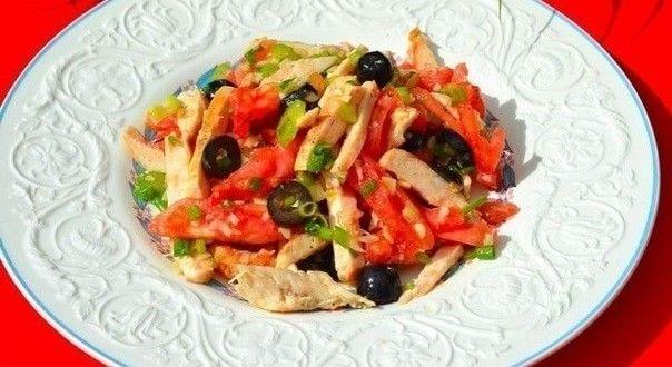 Салат из курицы — фитнес-рецепт с пошаговыми фото