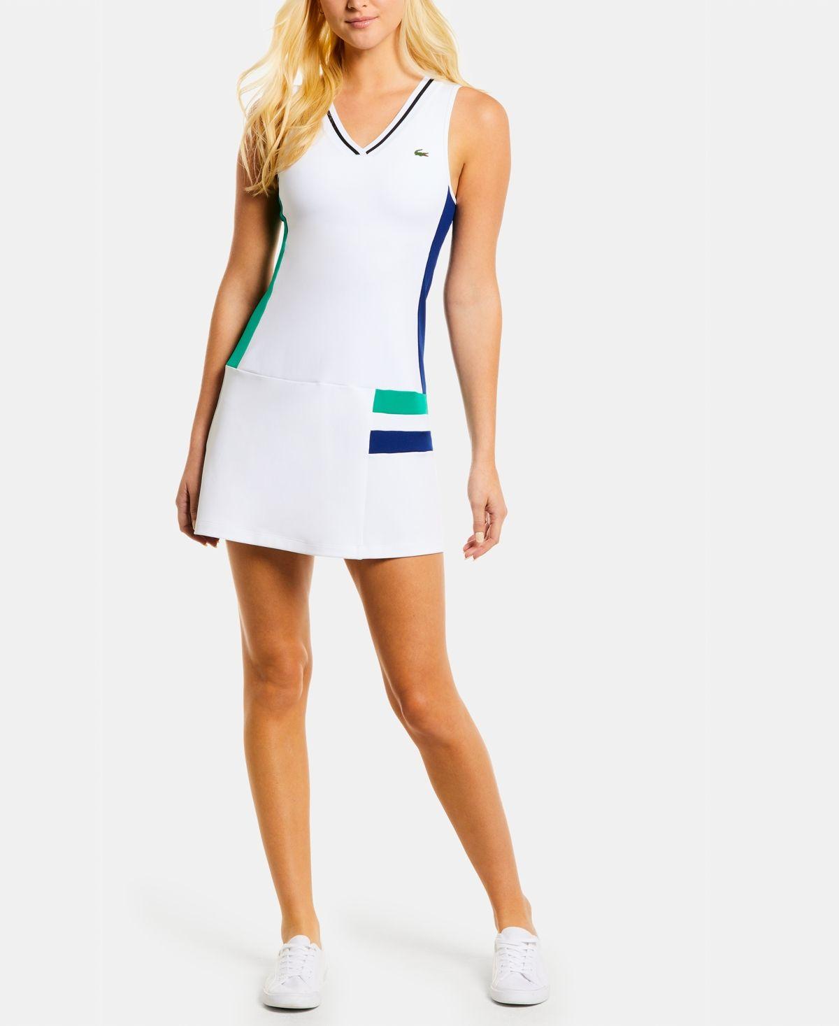 Lacoste Colorblocked Sleeveless Tennis Dress White White Black Greenfi In 2021 Tennis Dress Lacoste Tennis Dress Tennis Clothes [ 1467 x 1200 Pixel ]