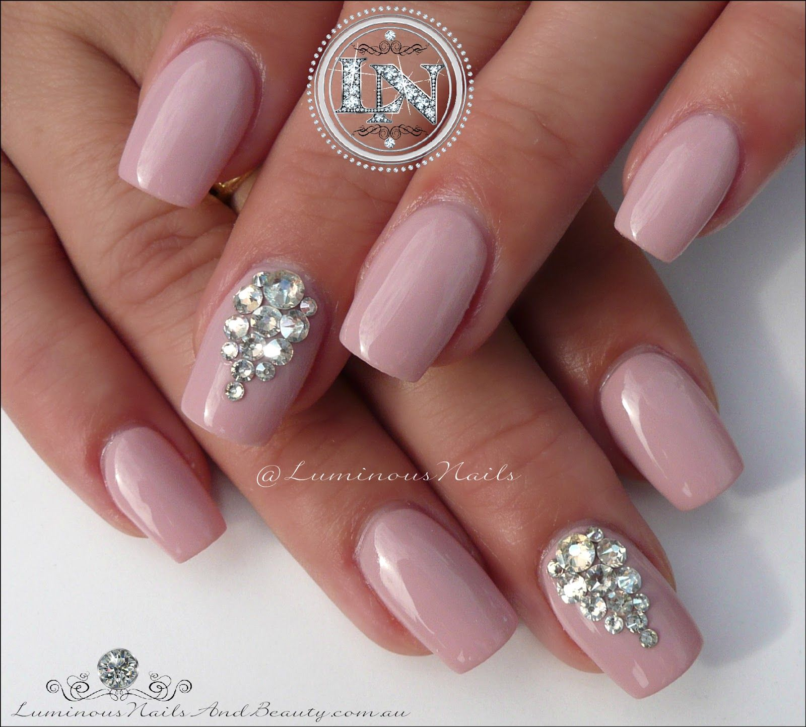 Crystal Gel Nail Video: Luminous Nails: Bridal Nails With Swarovski Crystals