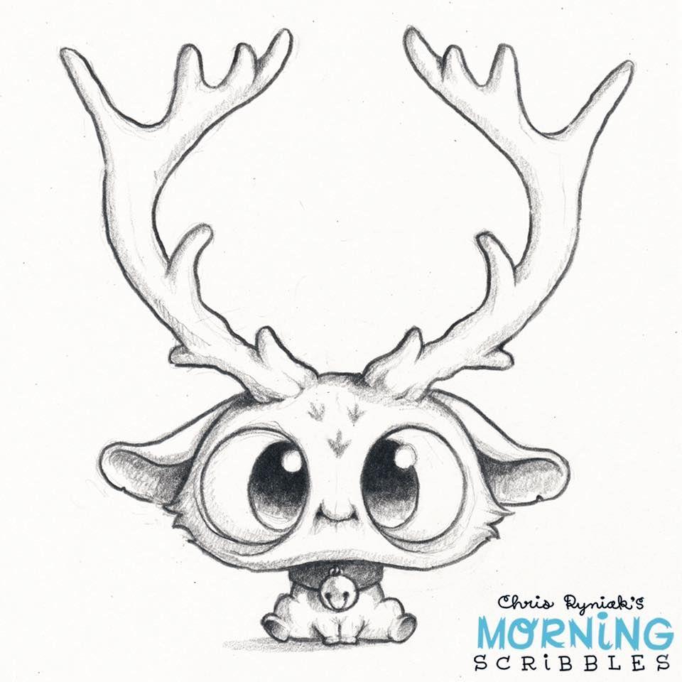 Chris Ryniak Morning Scribbles Cute Monsters Drawings Drawings Animal Drawings