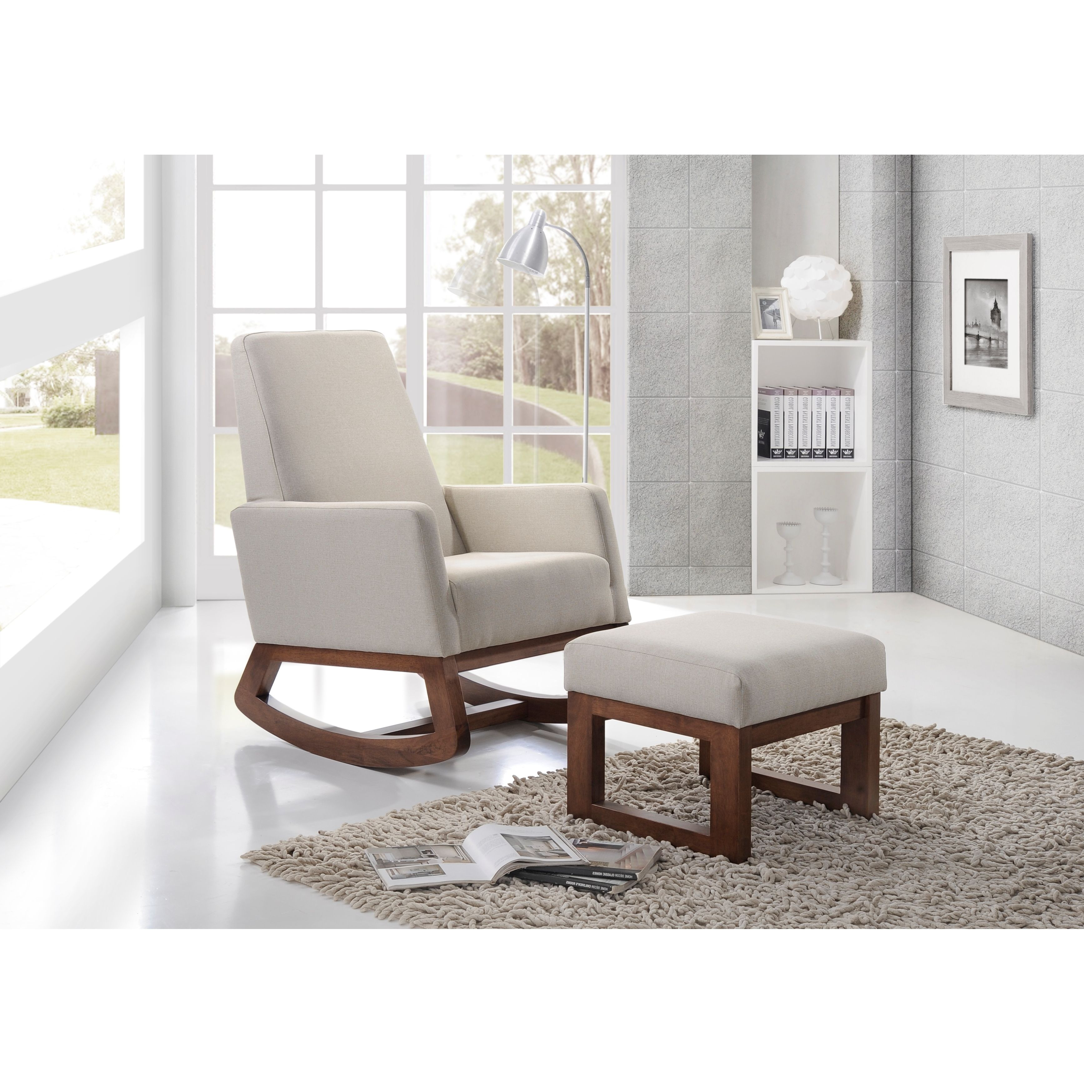 Inspired by mid century modern design the Yashiya rocking chair