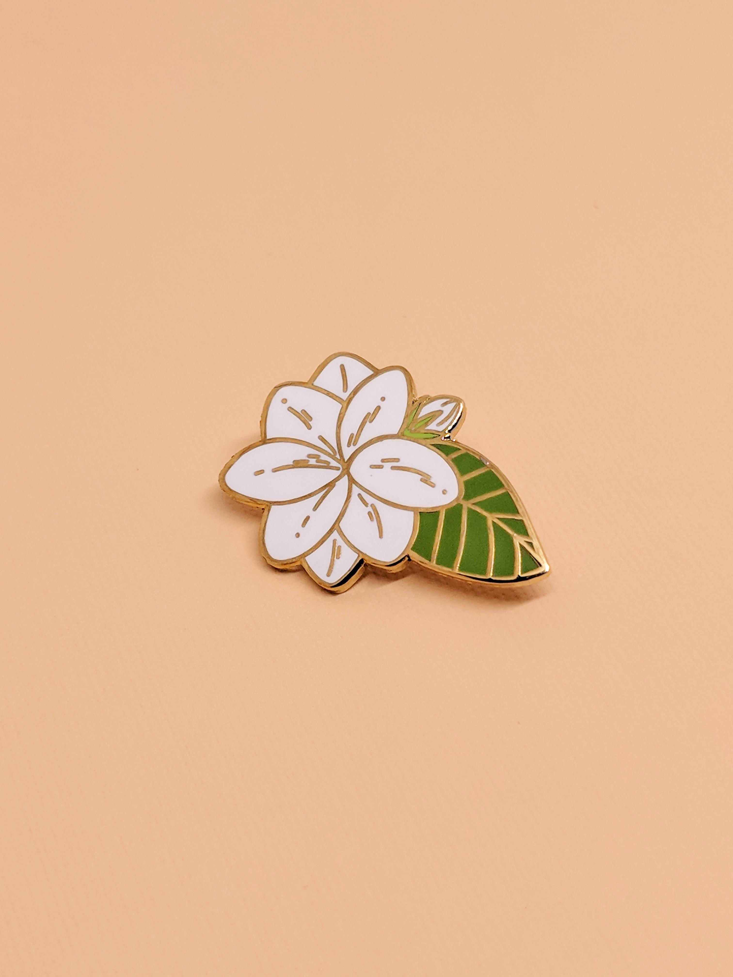 f2dfaedc1d5 Sampaguita Jasmine Flower Enamel Pin in 2019   Enamel Pins   Jasmine ...