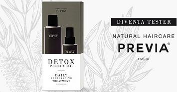 Diventa tester Detox Purifyng Previa Natural Haircare con MyBeauty