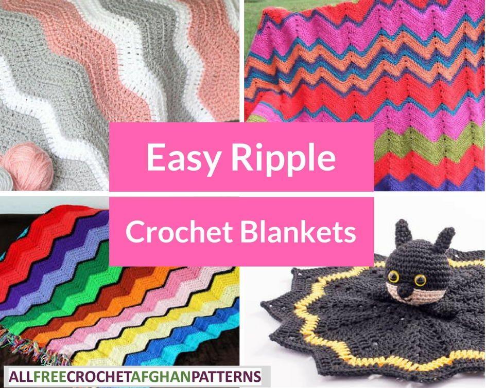 Moderno Patrón De Crochet Ondulación Fácil Inspiración - Manta de ...