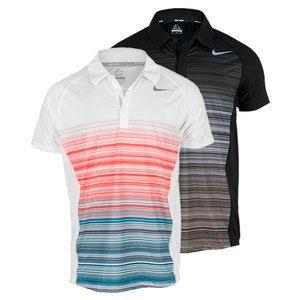 The Nike Men's Advantage UV Stripe Tennis Polo features a unique sublimated  stripe print at the