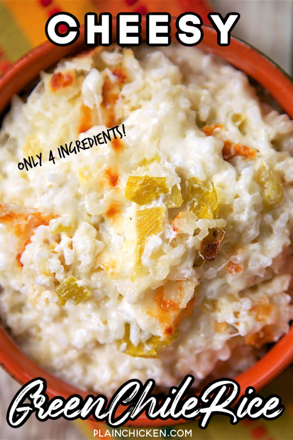 Cheesy Green Chile Rice