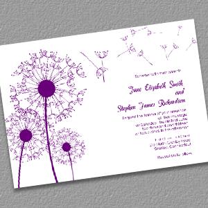 Dandelions Country Wedding Invitation Template