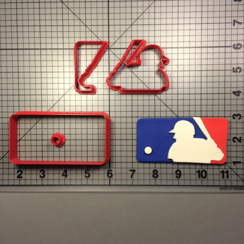 MLB Logo Cookie Cutter Set JBCookieCutters.com customizes moldings, cookie cutters, cookie cutter, cutters, cutter, silicone mold, silicone molds, baking supplies, baking