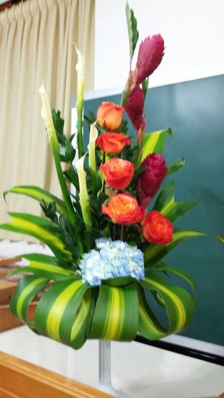 Rosas y Calas arreglos florales Pinterest Flower arrangements