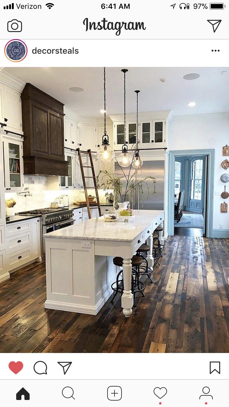 Kitchen ideas Love the sliding library ladder | kitchen | Pinterest ...
