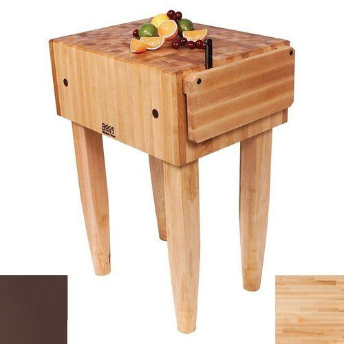 John Boos 24 Inch X 18 Inch X 10 Inch Pca Butcher Block With Knife Holder And French Roast Base Color Maple Top Pca2 Fr Butcher Block Butcher Block Table Maple Butcher Block John boos butcher block table