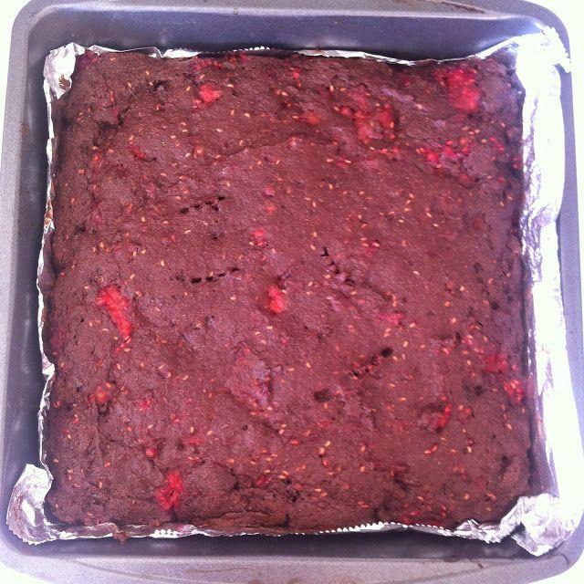 Bikini Baker Vegan Brownies With Raspberries Whole Wheat Flour