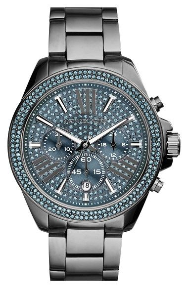 845428010107 MICHAEL Michael Kors Michael Kors  Wren  Pavé Dial Chronograph Bracelet  Watch