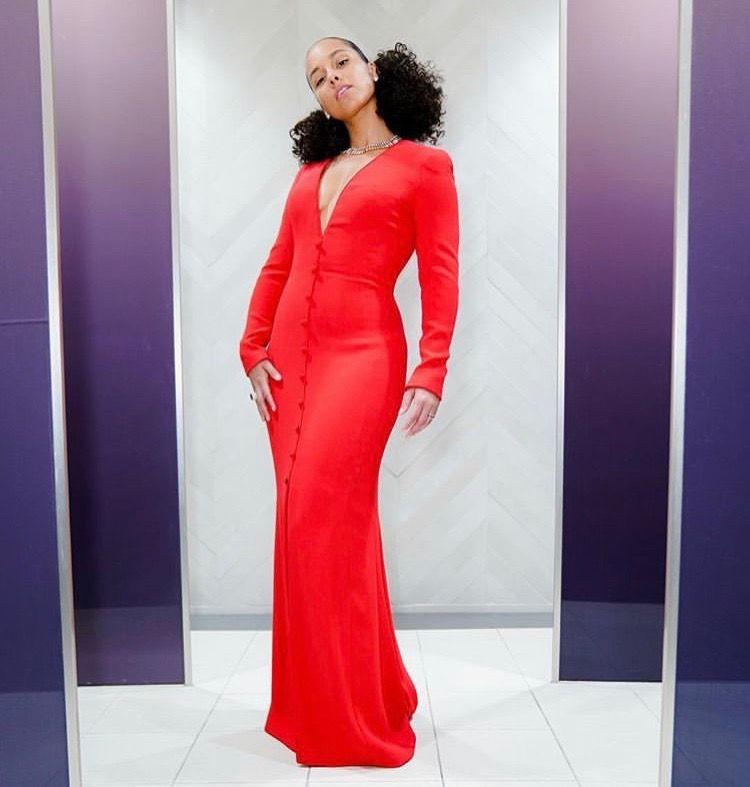 Grammys 2019 Red Carpet Fashion Red Dress Ladies Dress Design